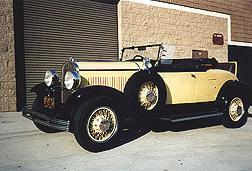 1929 Chrysler Convertible, Yellow and Black