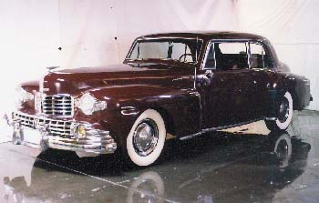 1947 Maroon Lincoln Continental
