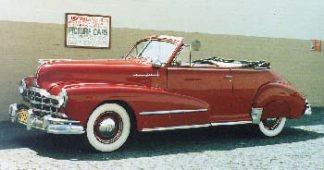 1948 Red Pontiac Convertible Coupe 2-door