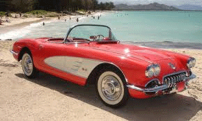 1958 Red Corvette Convertible