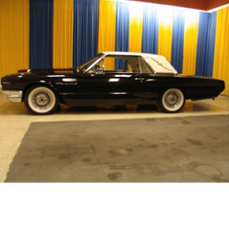 1964 Ford Thunderbird, black with white top