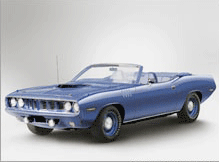1971 Plymouth Convertible, Blue