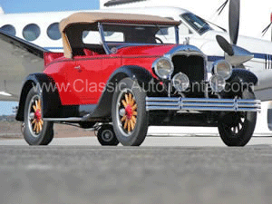Red and Black 2-Door Convertible with Rumble Seat