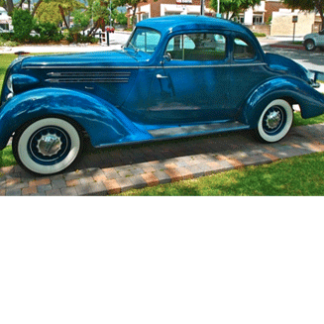 1936 Hudson 8 Deluxe Coupe blue