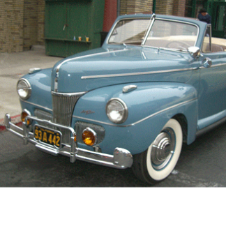 1941 Ford Super Deluxe Convertible, Blue