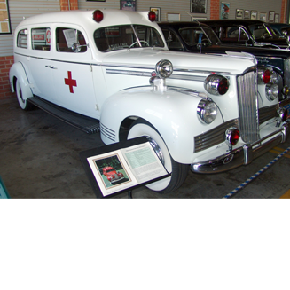 1942 Packard Ambulance WHite with red cross