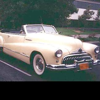 1948 Buick Convertible - Cream Colored