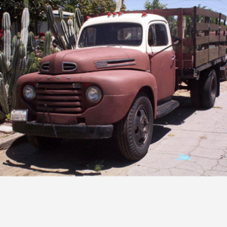 1949 Ford Stake Bed Farm Truck, Aged