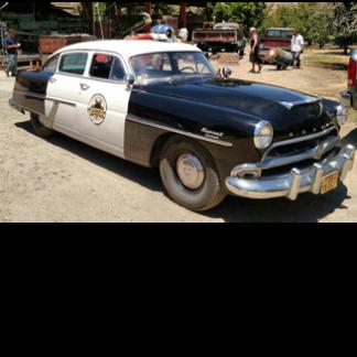 1954 Hudson Police-Sheriff Car, Black and White