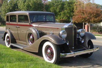 1933 Packard 4-door Sedan, Taupe and Burgundy