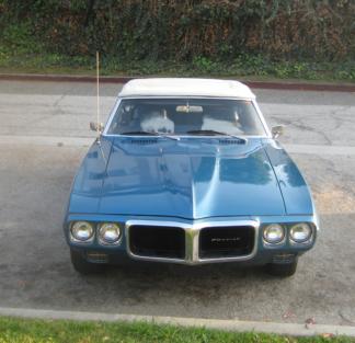 1969 Pontiac Firebird, Convertible, Blue