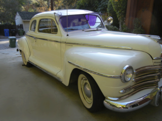 1948 Plymouth, 2-door coupe White