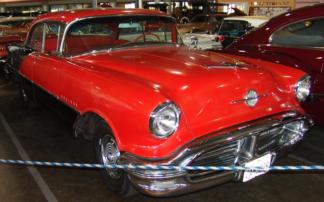 1956 Oldsmobile Sedan, Red and Black