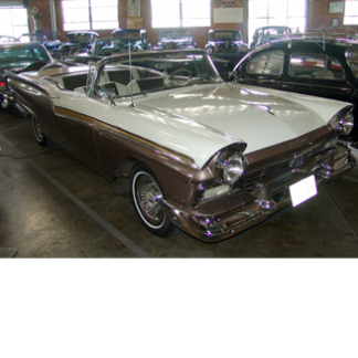 1957 Ford Skyliner, Brown and White