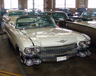 1959 Cadillac Convertible, White