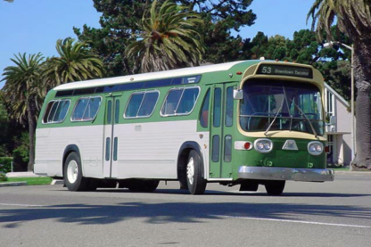 1960 Regional Transit Bus Green and white