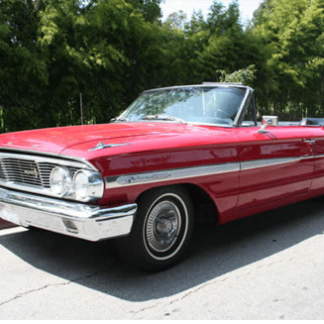 1964 Ford Galaxie Convertible Red