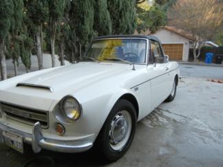 1968 Datsun Roadster Convertible, White
