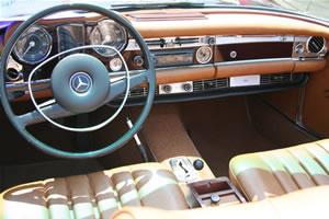 1970 Mercedes Benz 280SL, Convertible, Burgundy