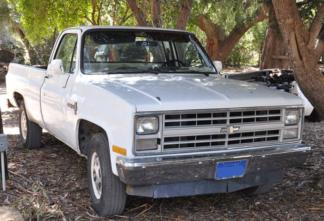 1986 Chevy 2500 - White