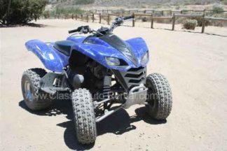 Blue 2005 Kawasaki Quad