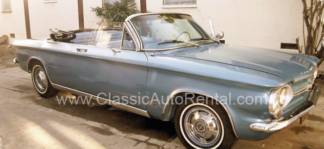 1964 Chevrolet Corvair, Convertible, Blue with White Top