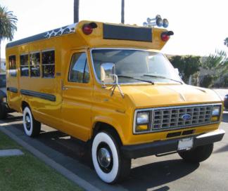 1989 Ford School Bus, Yellow
