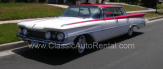 1959 Oldsmobile 98 Red and White