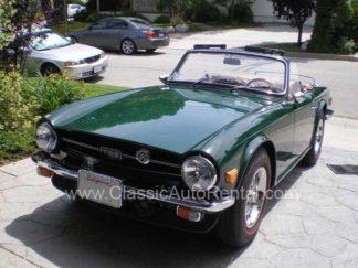 1969 Green Triumph TR6 Convertible