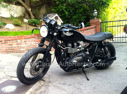 2009 Triumph Motorcycle, Black and Silver