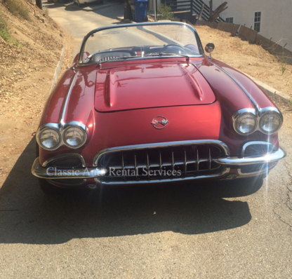 1959 Chevrolet Corvette, Burgundy and Cream