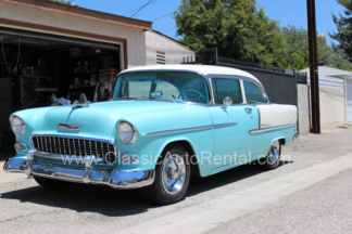 1955 Chevrolet Bel Aire 2 door Hard Top Blue and White