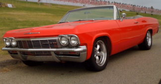 1965 Chevy Impala Red Convertible