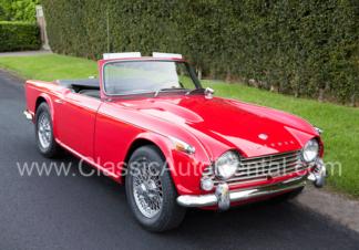1967 Triumph TR4A Convertible 2-door, Red
