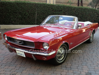 1966 Mustang Convertible, Red