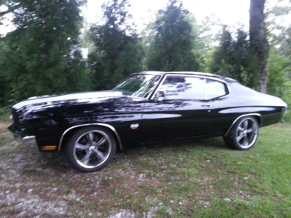 1970 Chevy SS Chevelle, Black with White