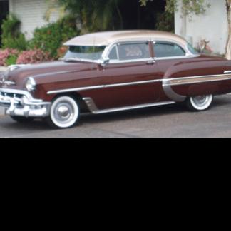 1953 Bel Air Chevrolet Brown 2 door Sedan