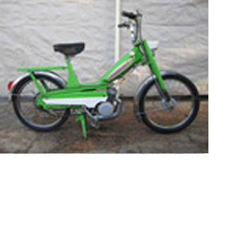 1980 Moped Green
