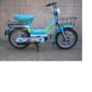 1980 Moped Blue
