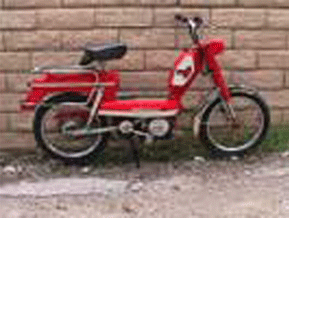1980 Moped red