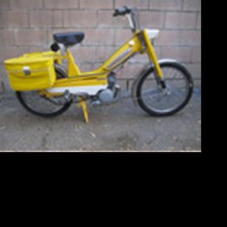 1980 Moped Yellow