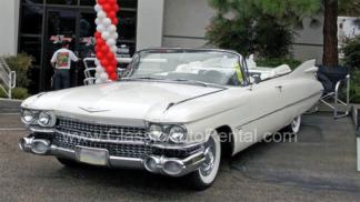 1959 Cadillac 62 Series Convertible, White