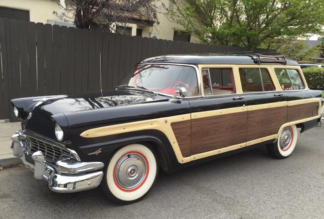1956 Ford Country Squire Wagon, Black