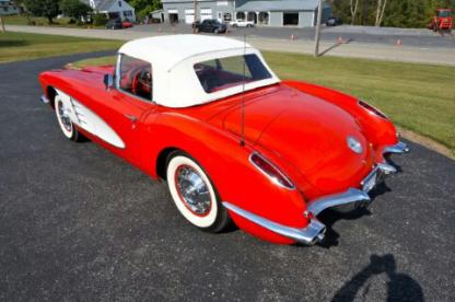 1960 Chevrolet Corvette, red convertible